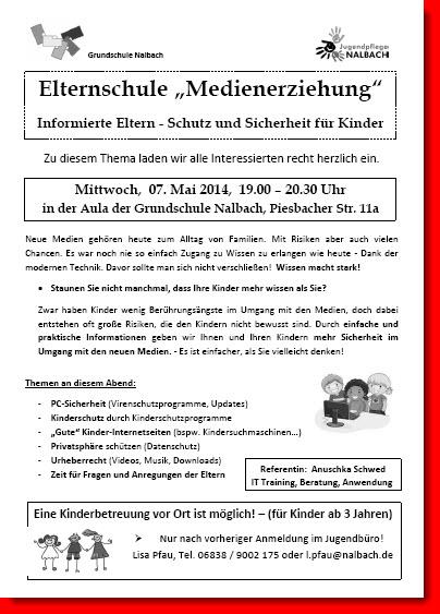 Medienerziehung - Vortrag am 06.05.2014