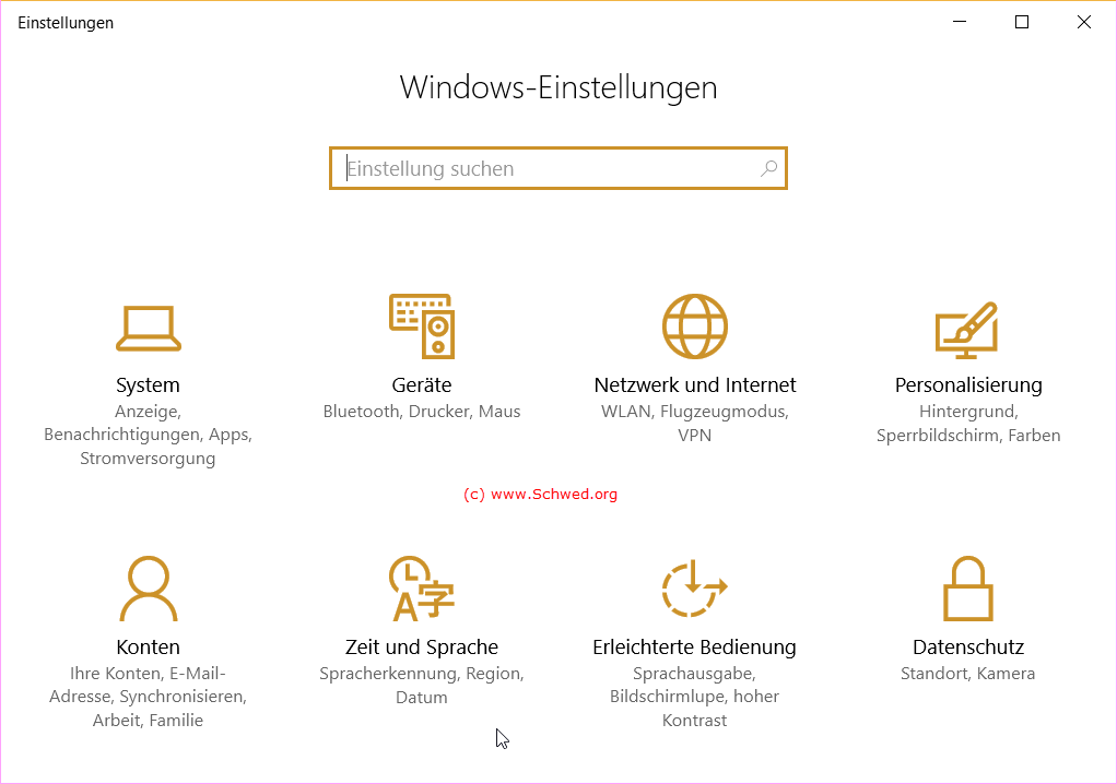 Windows-Einstellungen